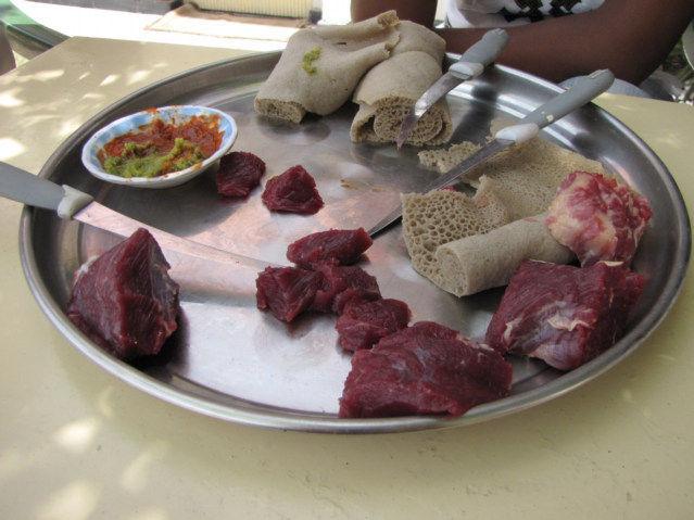 Ethiopian Food Raw Meat Travel Food Raw Meat